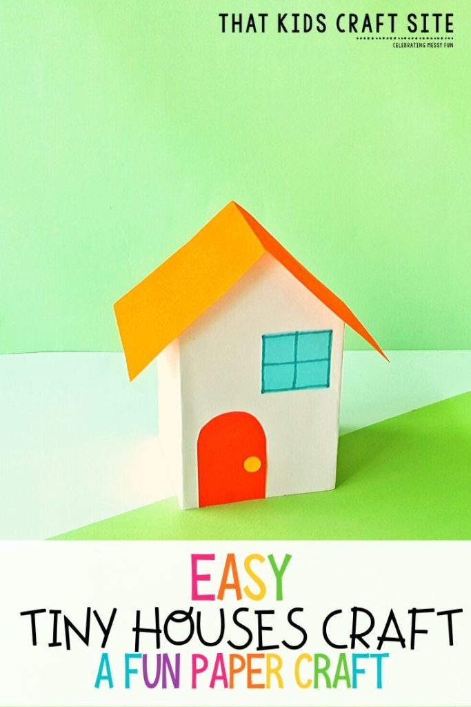 Easy Tiny House Paper Craft for Kids - ThatKidsCraftSite.com