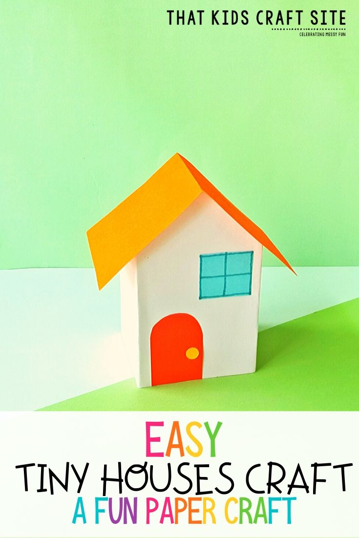 Easy Tiny Houses Craft - A Fun Paper Craft for Kids - ThatKidsCraftSite.com