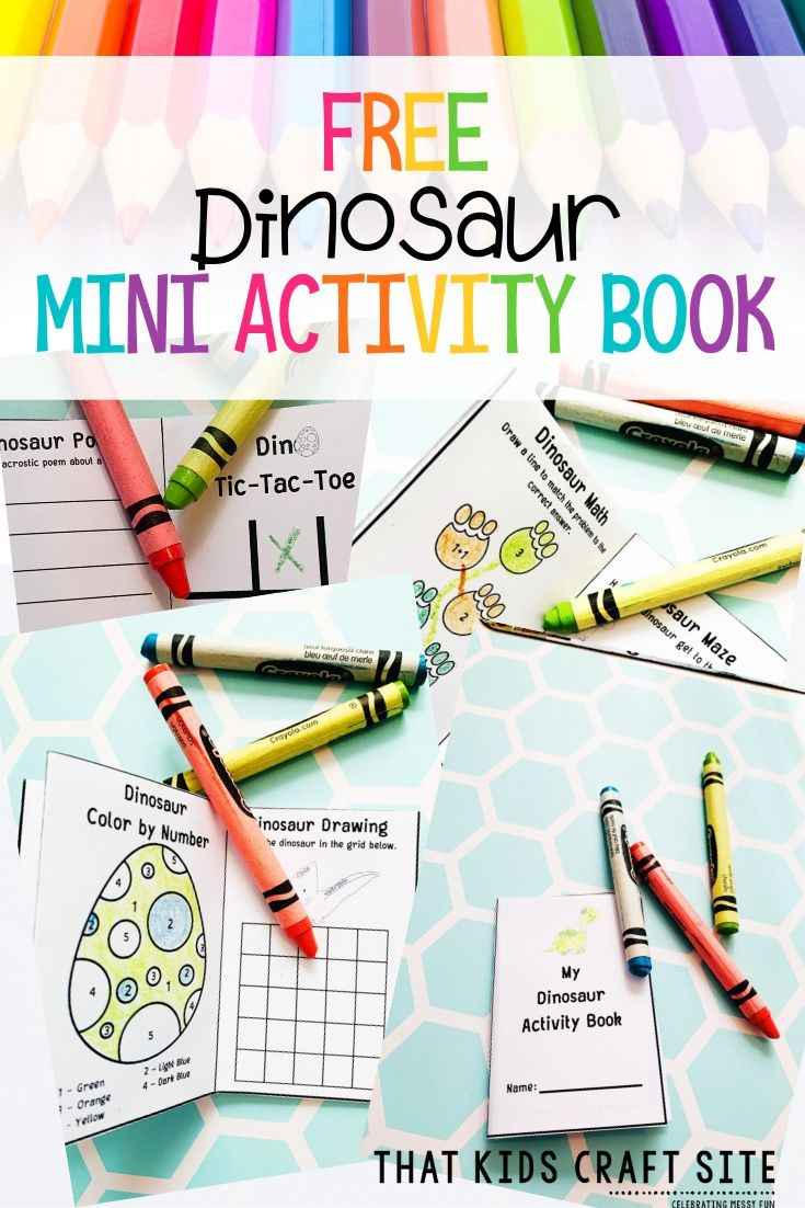 Free Dinosaur Activity Book for Kids - Letter D Activity Book - Mini Alphabet Books for Books for Kids - ThatKidsCraftSite.com