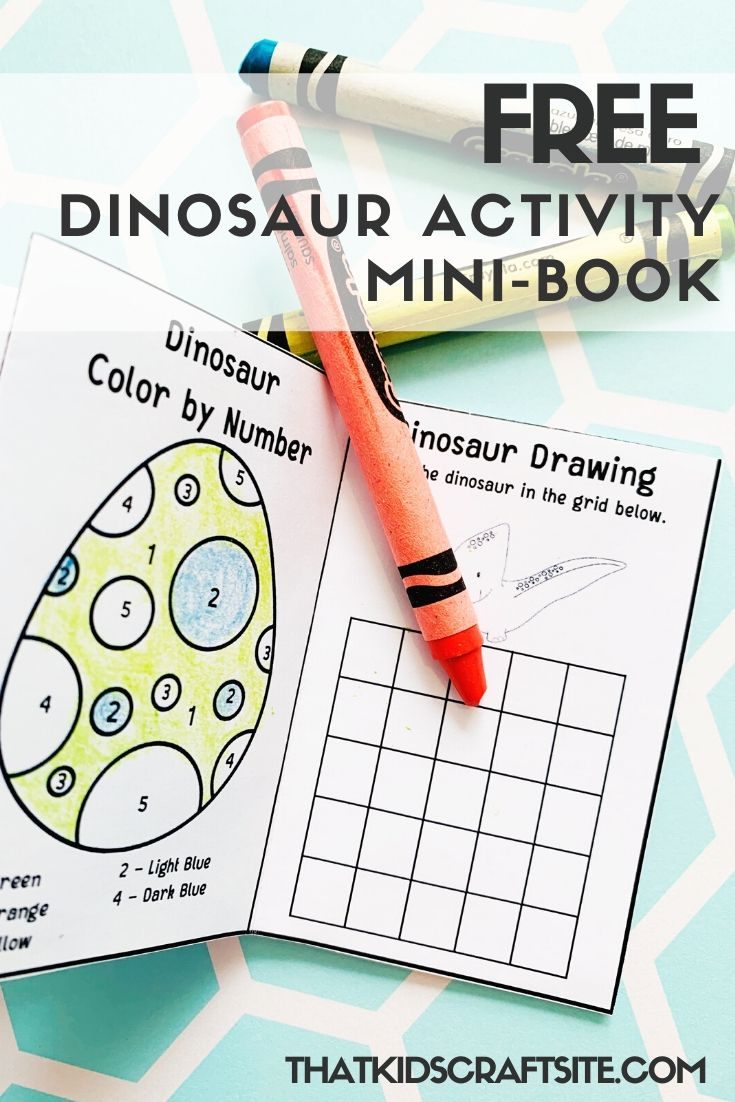 Free Dinosaur Activity Mini-Book - ThatKidsCraftSite.com.jpg