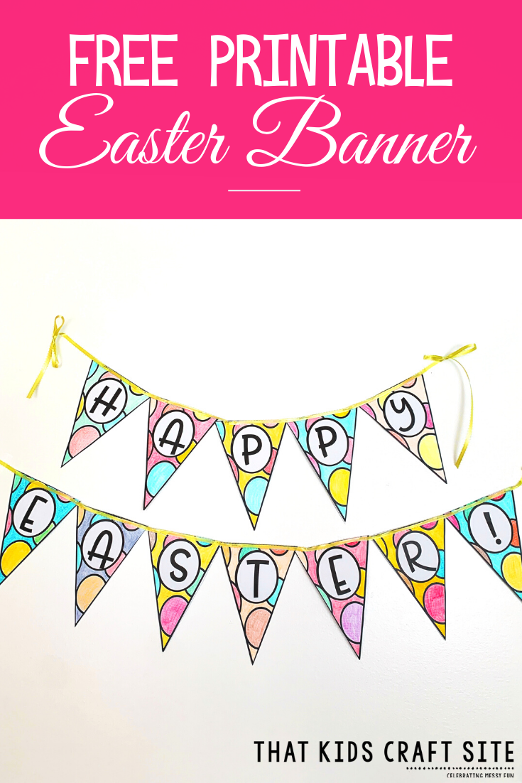 Free Printable Easter Banner - ThatKidsCraftSite.com