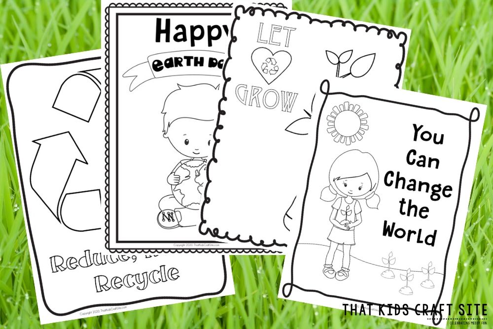 Free Earth Day Coloring Pages - That Kids' Craft Site