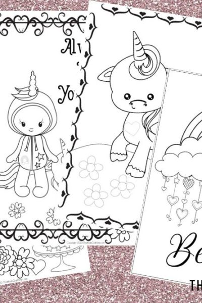Free Printable Unicorn and Rainbow Coloring Pages for Kids - That Kids Craft Site