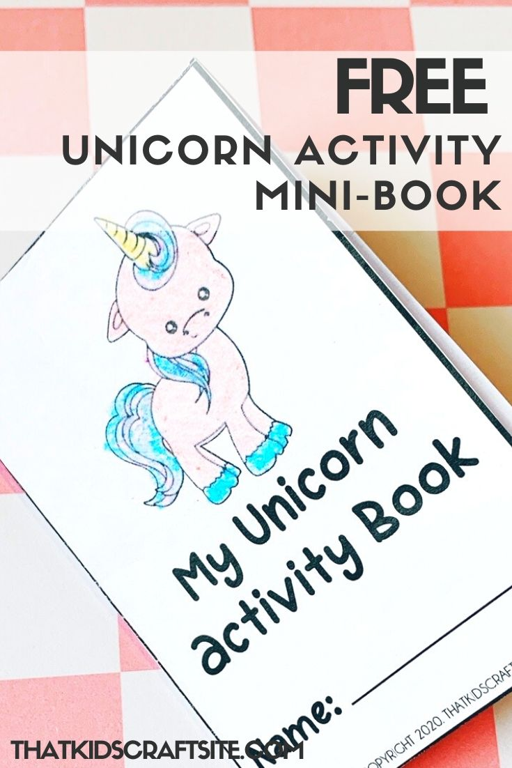 Free Unicorn Activity Mini-Book for Kids - ThatKidsCraftSite.com