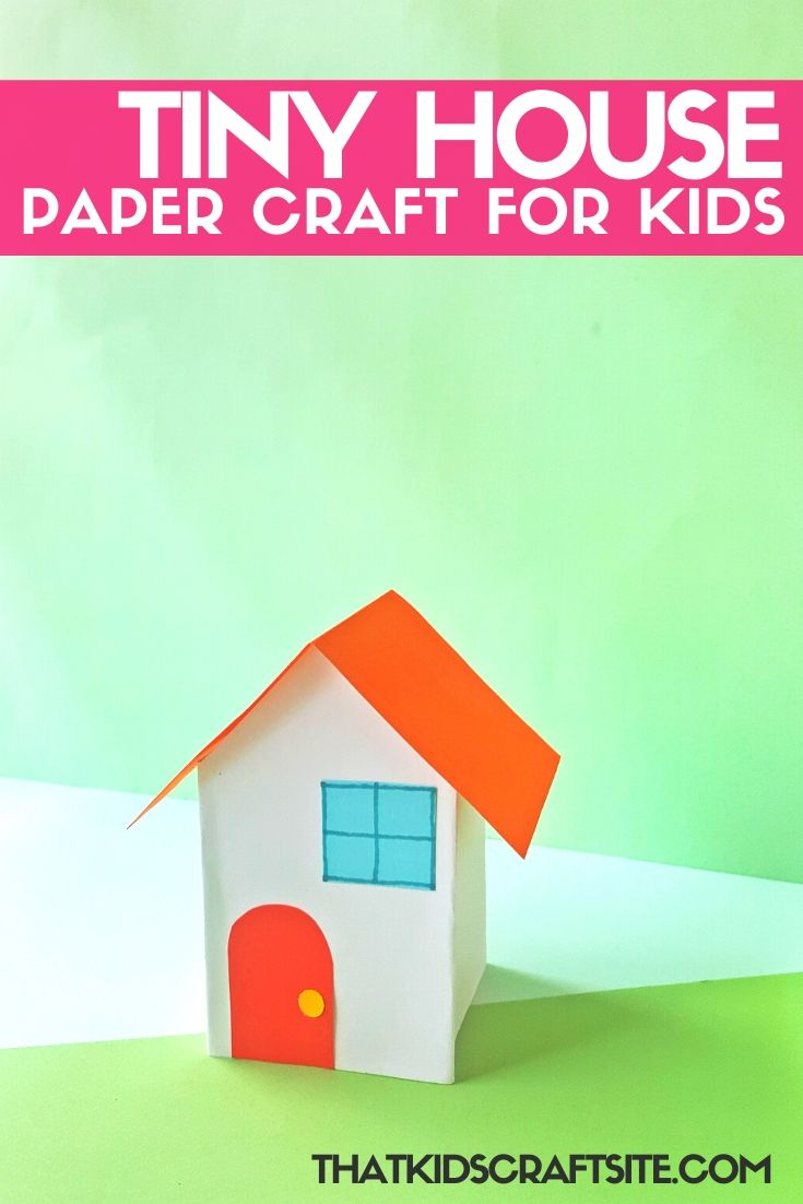 Easy Tiny Paper Houses Craft - ThatKidsCraftSite.com