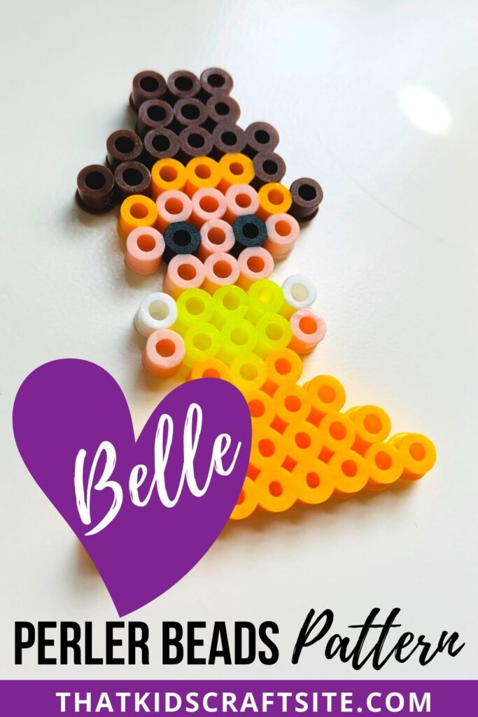 Belle Princess Perler Beads Pattern