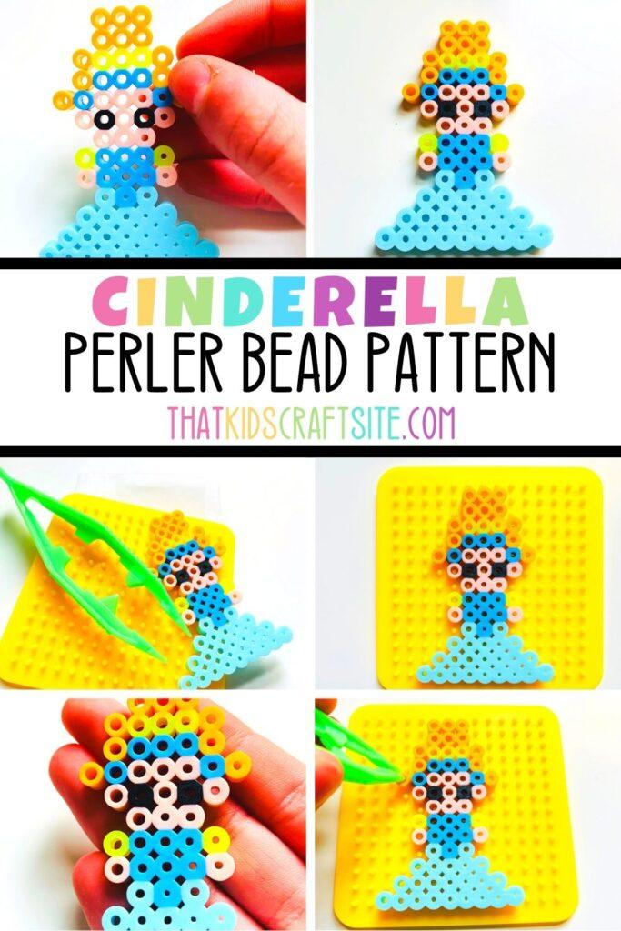 Cinderella Perler Bead Pattern Printable - ThatKidsCraftSite