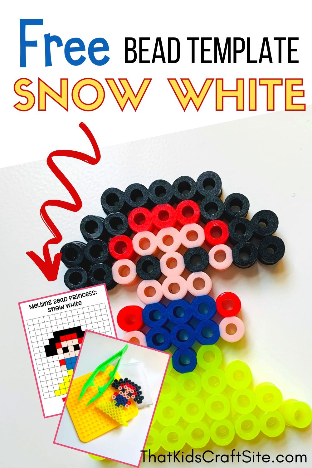 Snow White Perler Beads Pattern