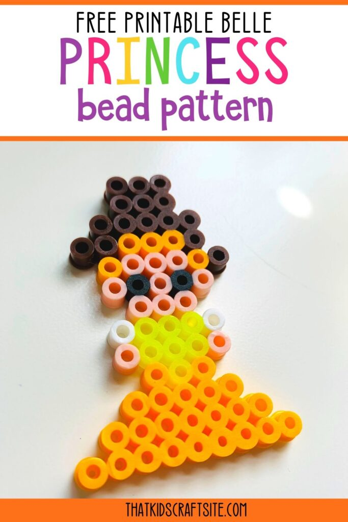 Free Printable Belle Princess Bead Pattern