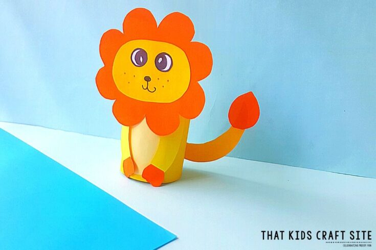 Lion Toilet Paper Roll Craft for Kids - That Kids Craft Site Preschool Craft