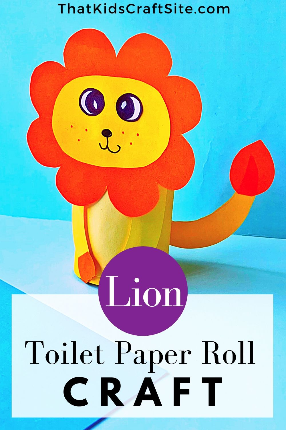 Lion Toilet Paper Roll Craft for Kids from That Kids Craft Site