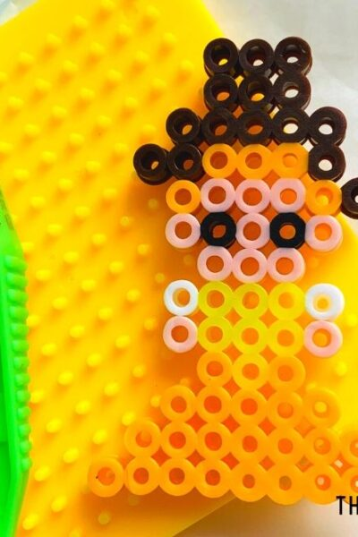 Princess Belle Perler Beads Pattern