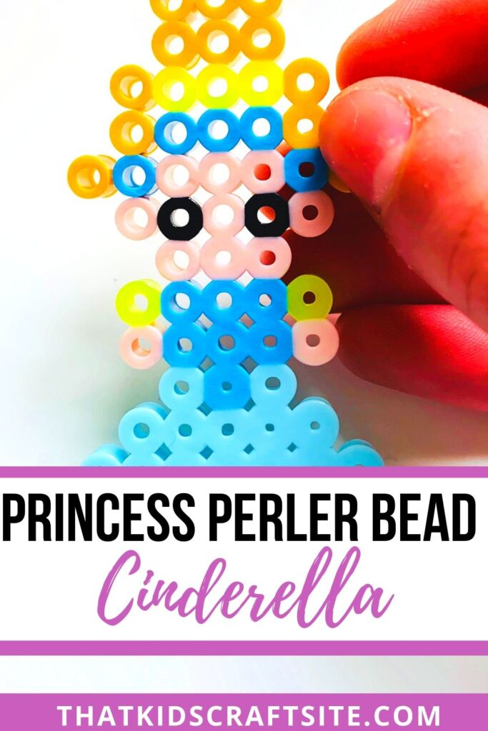 Cinderella Princess Perler Bead Pattern