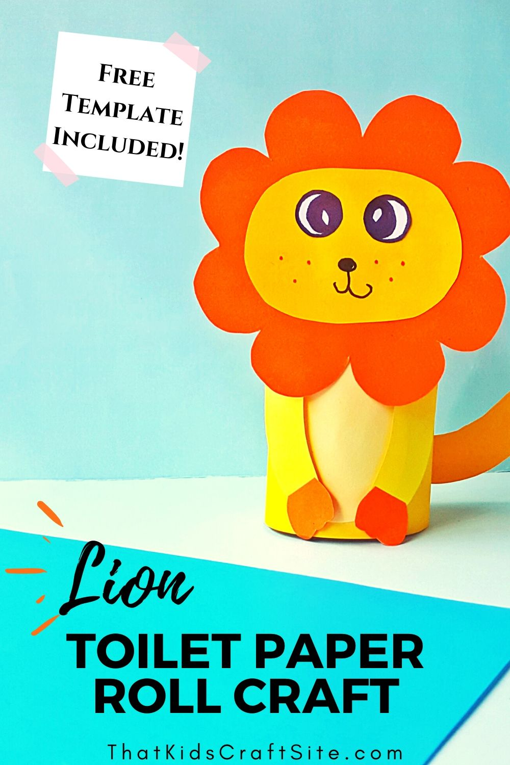 Recycled Lion Toilet Paper Roll Craft for Kids