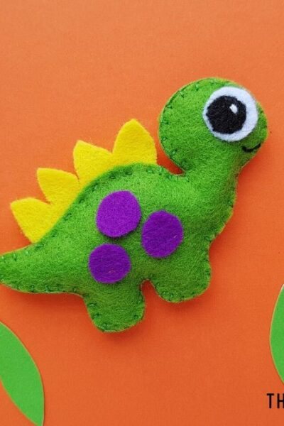 Sewn Dinosaur Craft for Kids