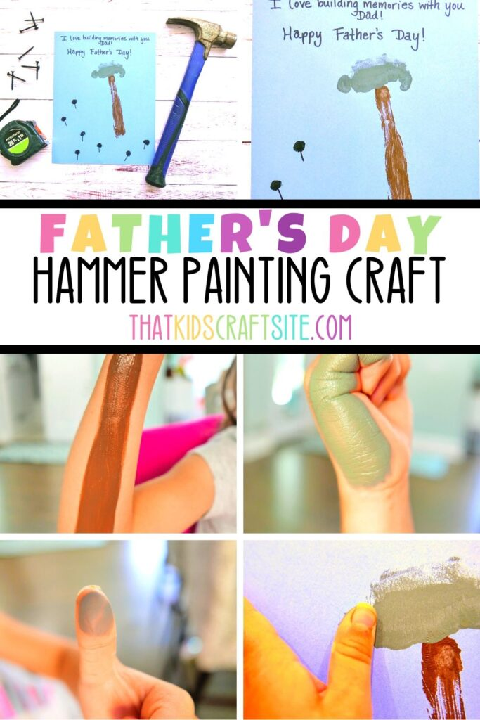 Father's Day Craft - Hammer Painting Craft for Kids