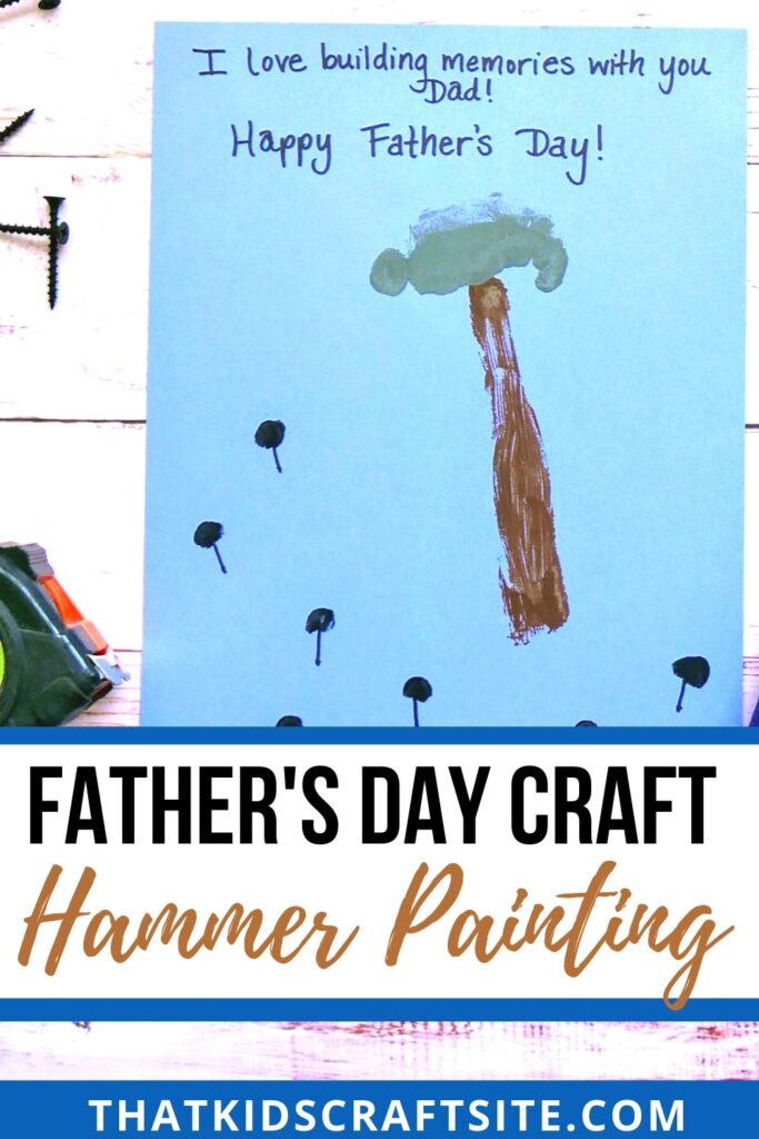 Hammer Painting for Father's Day - a Fun Father's Day Craft
