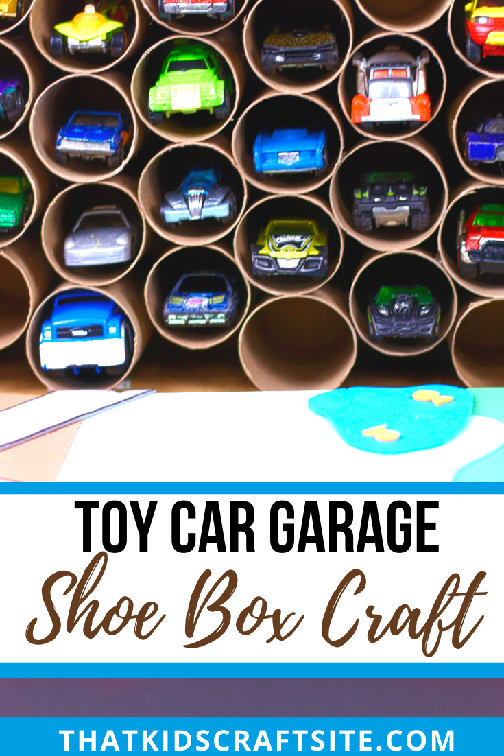Toy Car Garage Shoe Box Craft for Kids