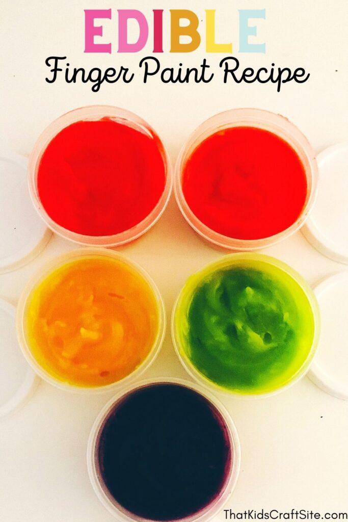 Edible Finger Paint for Kids