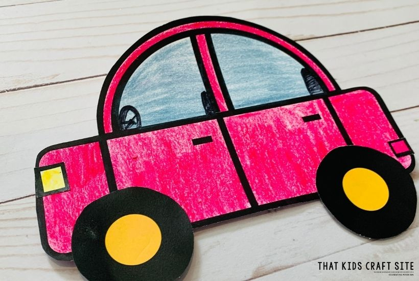Printable Car Craft for Preschoolers
