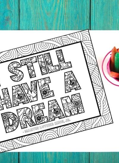 I Still Have a Dream Martin Luther King Coloring Page